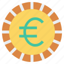 coin, currency, euro, money, payment, shopping icon