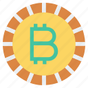 bit coin, coin, currency, money, payment, shopping icon