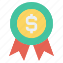 dollar sign, favorite, medal, recommend, reward, shopping, top