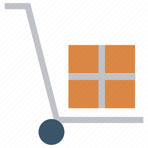Carton, delivery, package, shipping, shopping, trolley icon - Download on Iconfinder
