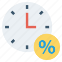 alarm, clock, percentage, shopping, time, watch
