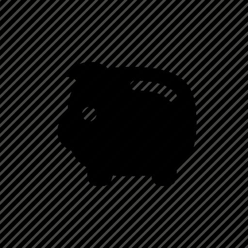 money, moneybox, pig, savings, thrift-box icon
