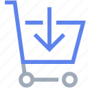 add, basket, cart, ecommerce, supermarket, trolley icon