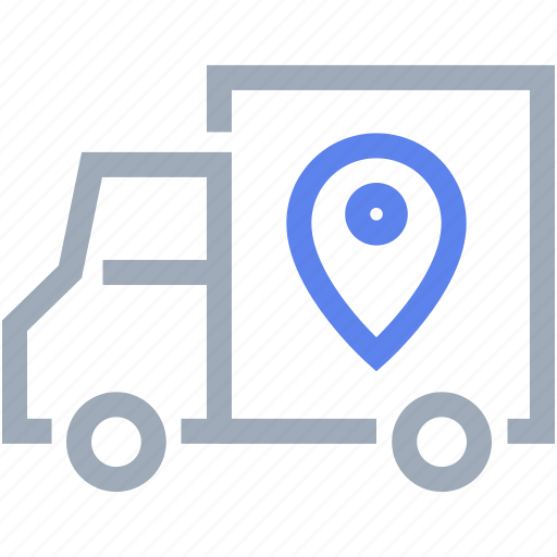 delivery, location, shipping, transport, truck icon