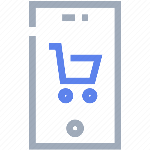 cart, ecommerce, internet, mobile, trolley icon