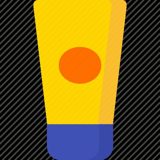 beach, cream, holiday, summer, sun, sunny, sunscreen icon