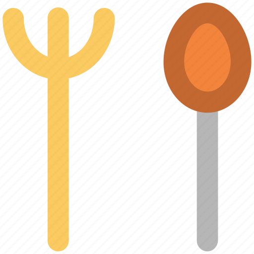 cutlery, food serving, fork, kitchen utensils, silverware, spoon, tableware icon