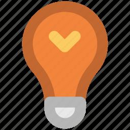 bright, bulb, electricity, idea, illuminate, lightbulb, luminaire icon