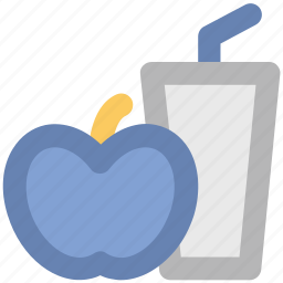 apple, apple juice, beverage, drink, healthy drink, natural diet, soft drink icon