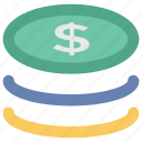 change, coins, dollar coins, donation, funds, money