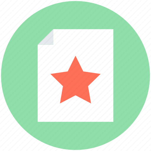 document, extension file, favorite file, report, sheet icon