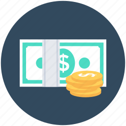 cash, coins, currency, money, payment icon