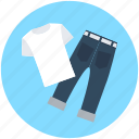 garments, jeans, pant, shirt, trousers