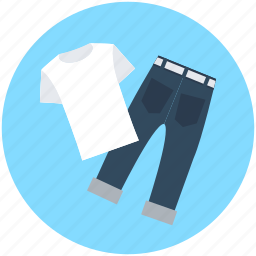 garments, jeans, pant, shirt, trousers icon