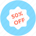 discount badge, discount offer, discount tag, percentage, promotional offer icon