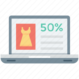 discount, laptop, online discount, online discount offer, online discount shopping icon