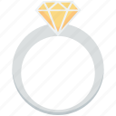 diamond ring, gem ring, jewel ring, ring, wedding ring icon