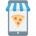 m commerce, online pizza, online pizza shop, pizza app, pizza shop icon