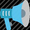 ad, advertisement, advertising, announcement, marketing, megaphone, promotion icon