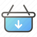 bag, download, hand, shop, shopping icon