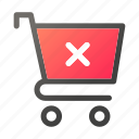 bag, delete, hand, shop, shopping icon