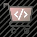 bag, cart, hand, script, shop, shopping