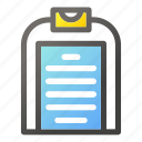 checklist, clipboard, invoice, receipt