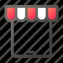 ecommerce, market, shopping, store, tablet