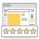 browser, comments, commitments, engagement, feedback, reviews, shop icon