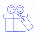 box, gift, offer, shopping, special, tag icon
