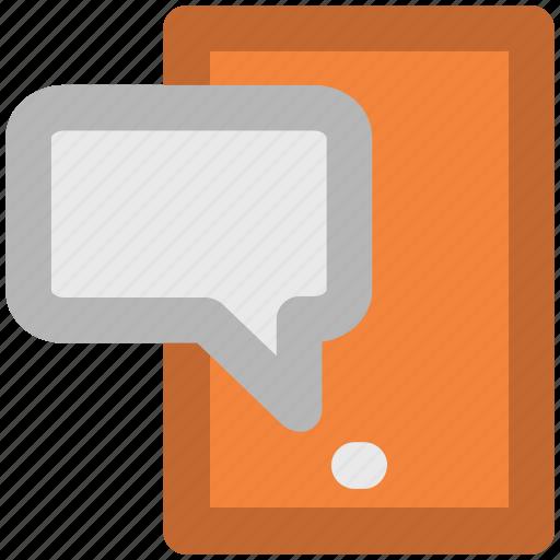 chitchat, communication, conversation, mobile chat, mobile communication, mobile technology, talk icon