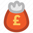 cash, cash bag, dollar, money, money sack, payment, pound sack, sack of money icon