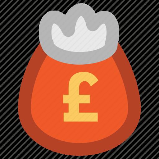 cash, cash bag, dollar, money, money sack, payment, pound sack, sack of money icon