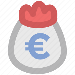 cash, cash bag, dollar, euro sack, money, money sack, payment, sack of money icon