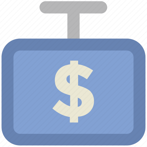 commerce, dollar sign, ecommerce, economy, money symbol, price signboard icon