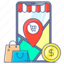shopping, location, shopping location, store location, shop location, geolocation, gps