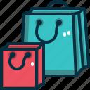 shopping, bag, paper, commerce, sale