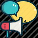 marketing, megaphone, advertising, online, technology