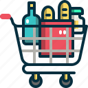 shopping, cart, grocery, supermarket, commerce