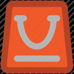 bag, online store, paperbag, shopper bag, shopping bag, supermarket bag, tote bag icon