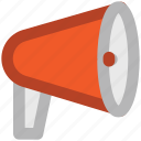advertising, alert, announcement, audio, bullhorn, loud, sound icon