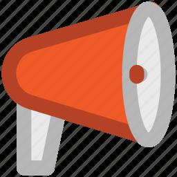 advertising, alert, announcement, audio, bullhorn, loud, sound icon
