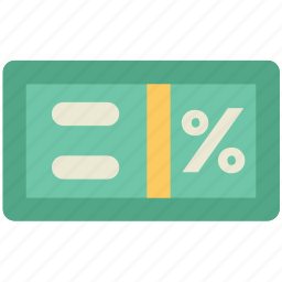 calculation, count, equal sign, estimate, math symbol, percentage symbol, rate icon