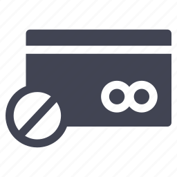 banned, blocked, card, credit, payment, shopping icon