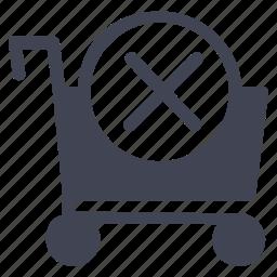 cancel, cart, close, shop, shopping, stop icon