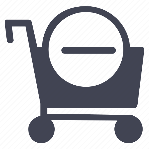 cart, delete, minus, remove, shop, shopping icon