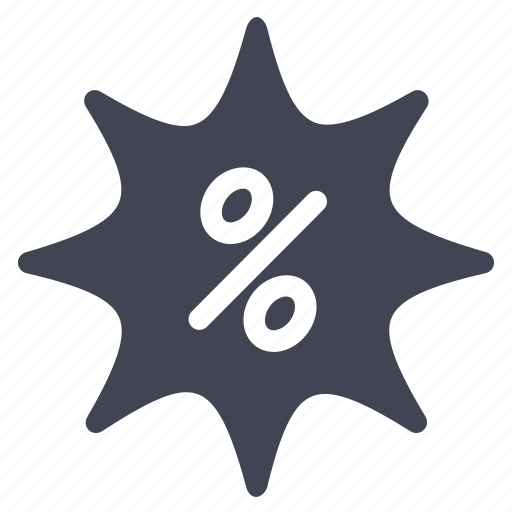discount, label, percentage, shopping, sticker icon