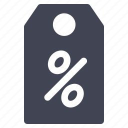 discount, label, percentage, shop, shopping, tag icon