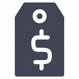 dollar, label, price, shopping, tag icon