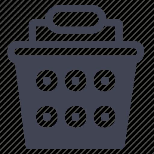 basket, handled, one, shop, shopping icon